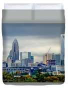 Dramatic Sky And Clouds Over Charlotte North Carolina Duvet Cover