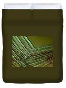 E. Coli In Culture Dish, Macro Image Duvet Cover