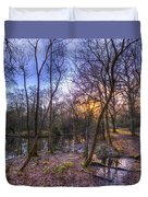 Early Morning Forest Pond Duvet Cover