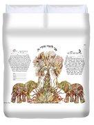 Elephants Ketubah- Reformed Humanistic Version Duvet Cover