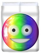 Emoticon Plastic Face Duvet Cover