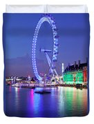 Ferris Wheel At The Waterfront Duvet Cover
