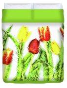 Flower Frame Border Duvet Cover
