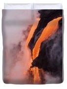 Flowing Pahoehoe Lava Duvet Cover