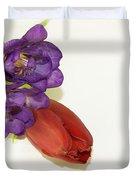 Freesia And Tulip Duvet Cover