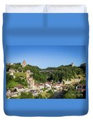 Fribourg Old Town In Switzerland Duvet Cover