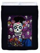 Frida Dia De Los Muertos Duvet Cover