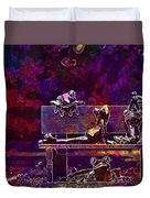 Frogs Yoga Bank Bench Relaxed  Duvet Cover