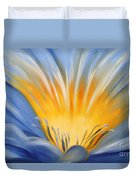 From The Heart Of A Flower Blue Duvet Cover