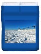 Frozen Lighthouse Duvet Cover