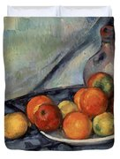 Fruit And A Jug On A Table Duvet Cover