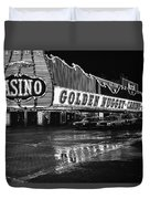 Golden Nugget Casino At Night In The Rain Las Vegas Nevada 1979 Duvet Cover