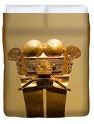 Golden Pre-columbian Figure Duvet Cover