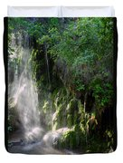 Gormon Falls Colorado Bend State Park.  Duvet Cover