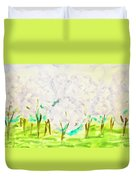 Hand Painted Picture, Spring Garden Duvet Cover
