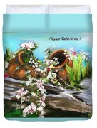 Happy Valentines  Duvet Cover