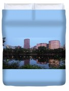 Hartford Skyline Panorama Duvet Cover