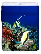 Hawaiian Reef Scene Duvet Cover