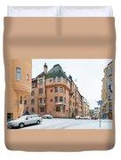 Helsinki At November Duvet Cover