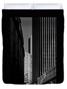 Heron Tower London Black And White Duvet Cover