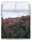 Hiking The Mesa Trail In Red Rocks Canyon Colorado Duvet Cover