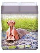 Hippopotamus  Duvet Cover