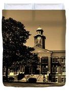 Historic White Hall - Tuskegee University Duvet Cover
