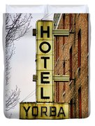 Hotel Yorba Duvet Cover by Gordon Dean II