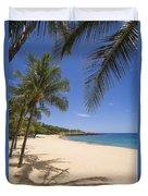Hulopoe Beach, Palm Tree Duvet Cover