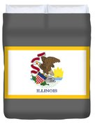 Illinois Flag Duvet Cover