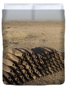 Inert Artillery Shells Are Stacked Duvet Cover by Terry Moore
