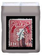 Irish Postage Stamp Duvet Cover