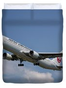 Japan Airlines Boeing 767-346 Duvet Cover