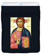 Jesus Teaching Duvet Cover