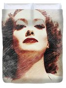 Joan Crawford, Vintage Actress Duvet Cover