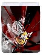 Joe Bonamassa Blue Guitarist Art Duvet Cover