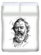 Johannes Brahms 1833-1897 Duvet Cover