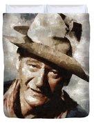 John Wayne Hollywood Actor Duvet Cover