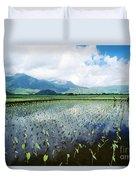 Kauai, Wet Taro Farm Duvet Cover