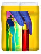 Laboratory Test Tube In Science Research Lab Duvet Cover