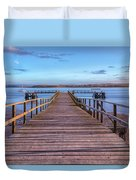 Lake Pier - England Duvet Cover