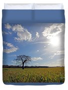 Lone Oak Tree In English Countryside Duvet Cover