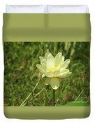 Lotus Flower In Bloom  Duvet Cover
