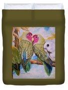 Flygende Lammet   Productions             3 Love Birds Perched Duvet Cover
