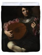 Lute Player Duvet Cover