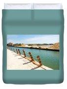 Main Canal - Trapani Salt Flats Duvet Cover