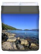 Mediterranean Seascape  Duvet Cover