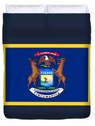 Michigan Flag Duvet Cover