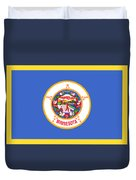 Minnesota Flag Duvet Cover