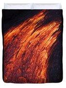 Molten Pahoehoe Lava Duvet Cover